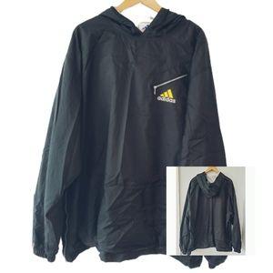 Adidas Black 3 Stripes Side Zipper Hoodie Size XL